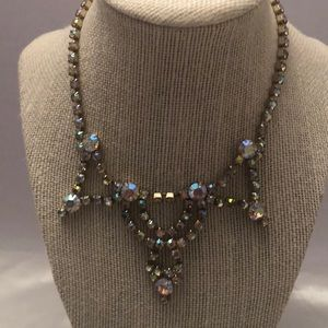 Vintage aurora borealis chocker necklace